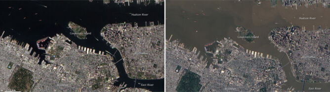 Irene i Lee zmieniły kolor nowojorskiej rzeki