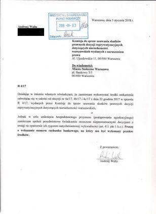 Oświadczenie wysłane do komisji Andrzejwaltz.pl