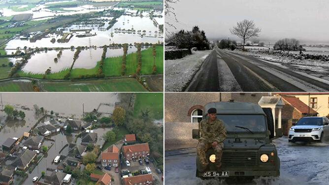 Ulewny deszcz i śnieżyce w Wielkiej Brytanii