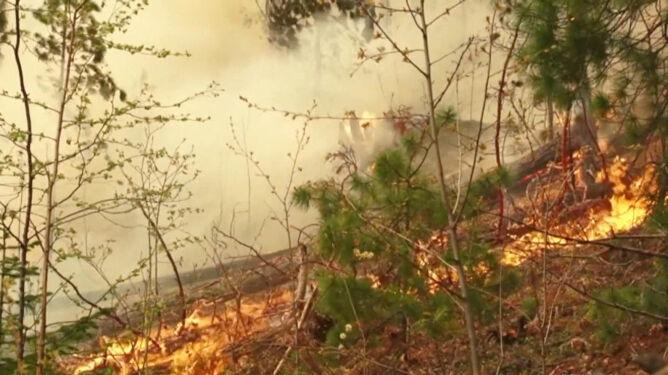 Pożary w Jakucji. Ogień zagraża elektrowni wodnej