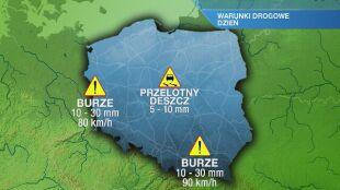 Warunki drogowe w sobotę 15.05