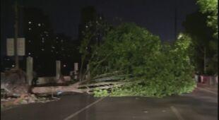 Silny wiatr spowodował zniszczenia na wchodzie Chin