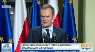 Premier po posiedzeniu Rądowego Zespółu Zarządzania Kryzysowego (TVN24)